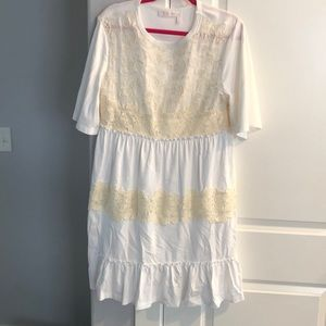 Seeby Chloe white babydoll lace dress